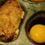 鶏豚きっちん - 卵黄(つくねの盛り合わせ5種)