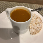 マリアージュ - 海老のビスクのフラン 海老の旨みが濃い!とても美味しいビスクです。