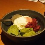 しゃぶしゃぶ温野菜 - 抹茶わらび餅アイス