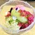 デセール ル コントワール - 料理写真:黒イチジク、青林檎ライムソルベ、ピスタチオ