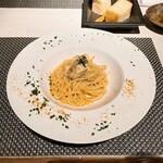 Osuteriabubbino - 牡蠣と白菜のペペロンチーノ