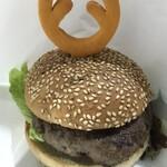 からあげ ルート46 - 料理写真:キタヒロシカ肉バーガー