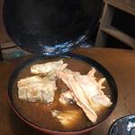 酒と肉天ぷら 勝天 - あら汁