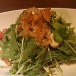 13966591 - 生法蓮草と京水菜のサラダ