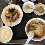 三熙 - 黒酢スブタ定食