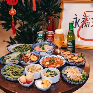 本格的な台湾料理の数々