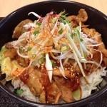 13967393 - 『(激辛)豚カルビ丼(700円)』 辛味増し