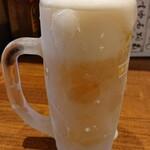 釣りあじ食堂 - 生ビール¥480