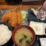 釣りあじ食堂 - 釣りあじ定食¥1,520?