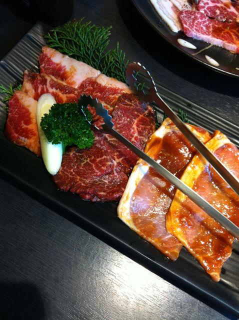 焼肉ハウス 扇寿 - 選べるランチセットの肉3種盛り