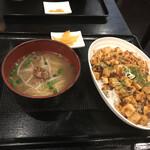 Bishokutenchiharuka - 麻婆丼+ミニラーメン