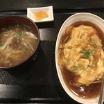 Bishokutenchiharuka - 天津丼+ミニラーメン