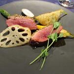 Atelier Trois - 肉料理~フランス産の真鴨のロースト・小カブラ・