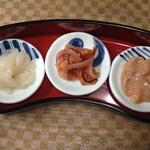バラモン食堂 - 五島烏賊の塩辛三種盛り