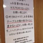 Shirokaneyokoyama - お店に入ってすぐマスクを取ってはいけないらしい。
