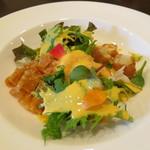 Chuugokuryouritambo - 前菜 ごとうリーフとマンゴー、天使の海老のサラダ