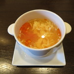 Chuugokuryouritambo - スープ ごろっとトマトが入った酸味と辛味のさわやかスープ