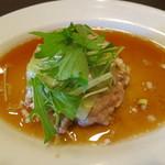 Chuugokuryouritambo - 肉料理 広東風蒸しハンバーグ、特製フィッシュソース