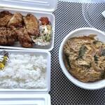 wazemmarumitsu - 主人が選ぶと「カツ丼」と「甘唐弁当」になり・・(^0^;) どちらも税込500円。