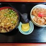 からまつ園  - 「豚丼セット(ミニそば+ミニ豚丼)」②
