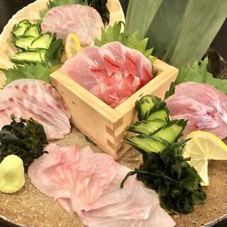 九州玄界灘直送の朝獲れ鮮魚に、博多印の名物料理がたくさん♪