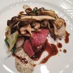 レストラン ル ボヌール - 季節のジビエ料理 蝦夷鹿のロースト