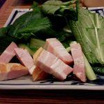 浦和ぱすたかん - 江戸菜ベーコン 焼く前