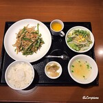 中国料理 空 - 青椒肉絲ランチセット