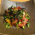 きた松 - 炙りユッケ 1200円