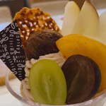 資生堂パーラー - ♦︎秋のモンブランパフェドリンク付き 2,255円