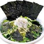 たっぷりしらす入り銀次の「海苔のり」サラダ