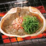 絶品!かに味噌甲羅焼(卓上焼)