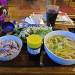 Bushuuudonakaneandomidoridainingu - ハンバーグ定食:ねぎ塩(\880)