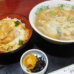 川崎屋 - ビーフン/ミニカツ丼セット(950円)