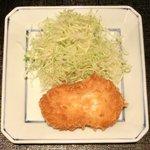 13977603 - 松茸御膳 松茸入りクリームコロッケ・だし巻卵 1050円 の松茸入りクリームコロッケ