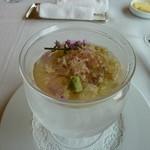 箱根ハイランドホテル ラ・フォーレ - 蕎麦と山芋入りの冷製コンソメ