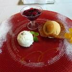 箱根ハイランドホテル ラ・フォーレ - チーズムースのデザート