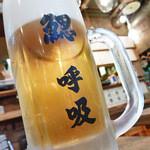 鰓呼吸 - エビス 生ビール 590円
