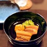 139827833 - らふてえ、うじら豆腐、ゴーヤの炒め物