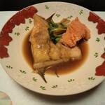 割烹 寿文 - カレイの煮付け