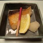 割烹 寿文 - ブリの塩焼き