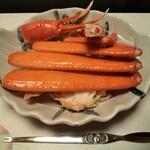 割烹 寿文 - 茹で紅ズワイガニ