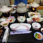 旅館 柳の湯 - 夕食