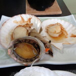 旅館 柳の湯 - ホタテとアワビ