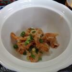 旅館 柳の湯 - ホタテのひも和え物