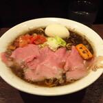 牛骨らーめん 牛王 - 牛王ラーメン 950円+背脂こってり30円