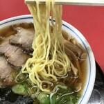 駅前食堂 - チャーシューメン 麺アップ