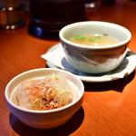 139879137 - 【ガパオライス@1,100円】生春巻き&スープ
