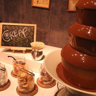 デザート食べ放題♡あのチョコレートファウンテンも楽しめます♪