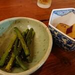 鶏Biyori - お通し2種